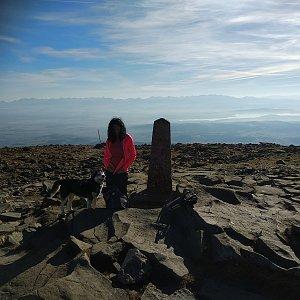 Jana Mayerová na vrcholu Babia Hora (8.11.2018 11:39)