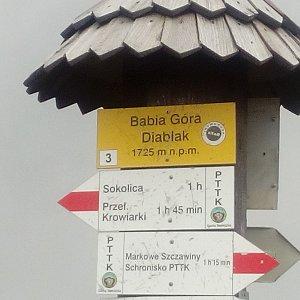 Martin Holuša na vrcholu Babia Hora (22.7.2018 12:30)