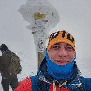 Stavinožka44 na vrcholu Babia Hora (9.1.2021 10:53)