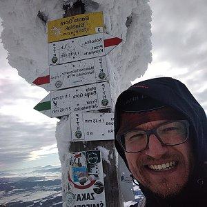 pa3k.soyka na vrcholu Babia Hora (12.1.2021 10:49)