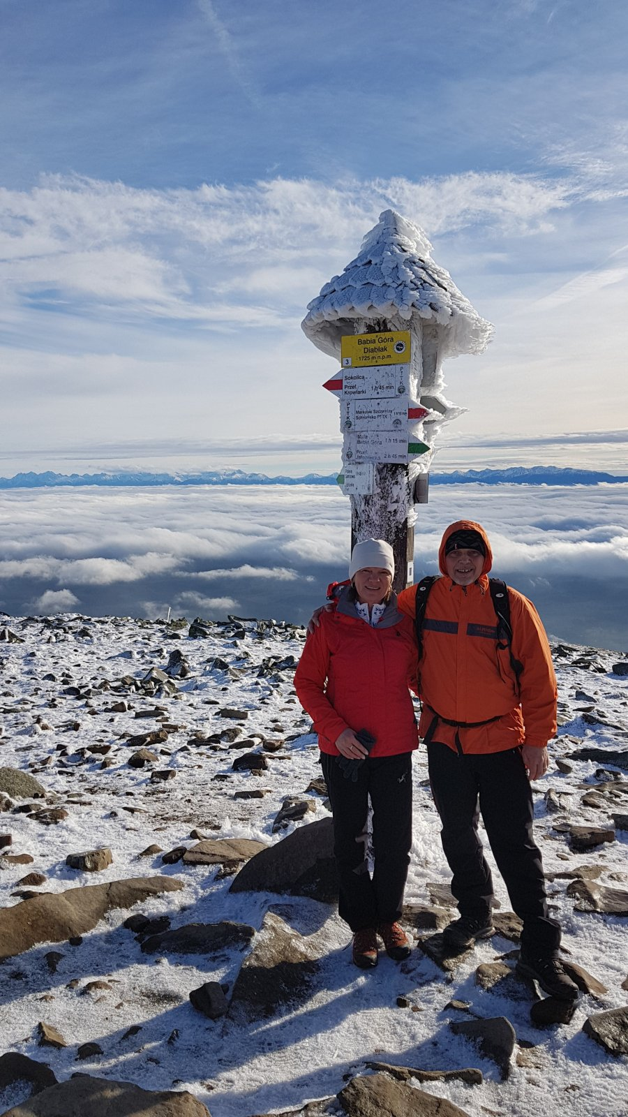 Fido a Myszka na vrcholu Babia Hora (25.11.2018 12:40)