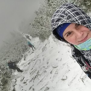 Zdeňka Máchová na vrcholu Babia Hora (28.11.2020 13:52)