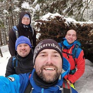 Martin BP Pastorek na vrcholu Babia Hora (9.1.2021 11:00)