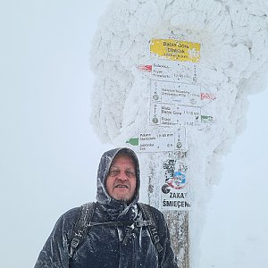 Edy RG na vrcholu Babia Hora (25.1.2021 21:39)