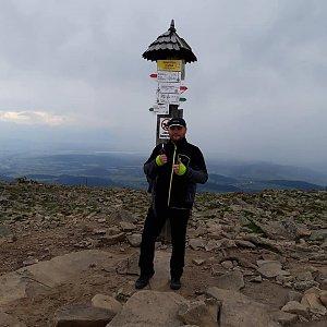 Tomáš Mucha na vrcholu Babia Hora (7.9.2019 11:00)
