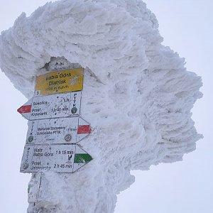 Pavel Kvk na vrcholu Babia Hora (9.1.2021 10:59)