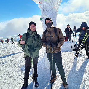 Jan Bilička na vrcholu Babia Hora (20.2.2021 14:09)