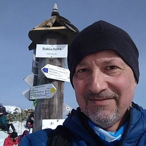 Merkys na vrcholu Babia Hora (24.2.2021 2:20)
