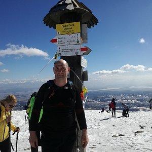 Jiří P na vrcholu Babia Hora (23.3.2019 13:01)