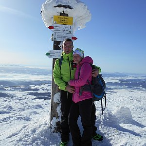 Romana Larischová na vrcholu Babia Hora (16.2.2019 10:46)