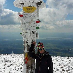 Yfča na vrcholu Babia Hora (8.5.2019 13:30)