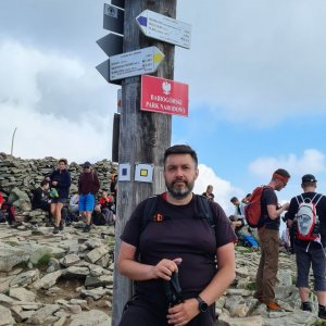 Jiří Gryz na vrcholu Babia Hora (4.7.2021 10:37)