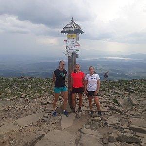 Hanka Ličková na vrcholu Babia Hora (16.6.2019 13:00)