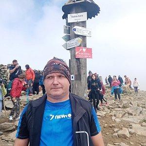 Michael na vrcholu Babia Hora (25.8.2021 12:59)