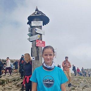 bebe na vrcholu Babia Hora (25.8.2021 12:59)