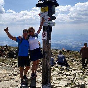I+L Rajnochovi na vrcholu Babia Hora (7.7.2019 2:00)