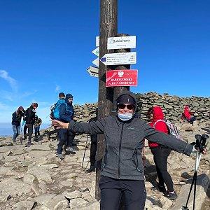 Magda na vrcholu Babia Hora (3.10.2021 11:19)