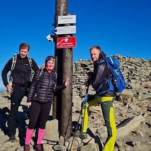 Baru na vrcholu Babia Hora (9.10.2021 9:20)