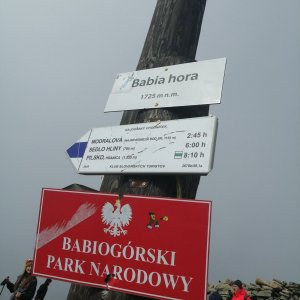 Denisa Dvořáková na vrcholu Babia Hora (16.10.2021 13:03)