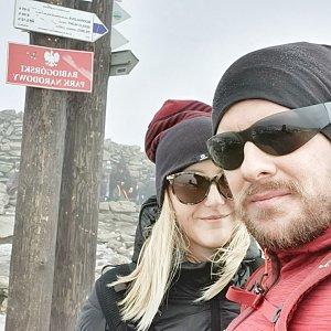 Martin Petřík na vrcholu Babia Hora (15.10.2021 13:35)