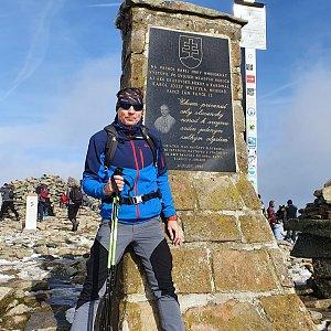 Tomáš na vrcholu Babia Hora (16.10.2021 14:06)