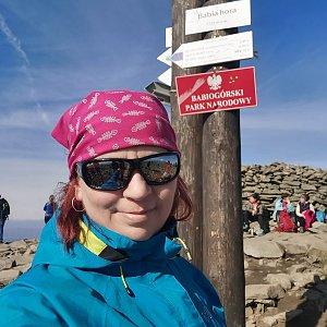 Daniela Vajsová na vrcholu Babia Hora (17.10.2021 13:01)