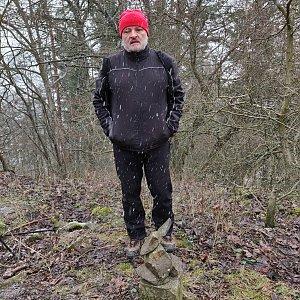 Pavel Martínek na vrcholu Mázova horka (1.1.2021 13:02)