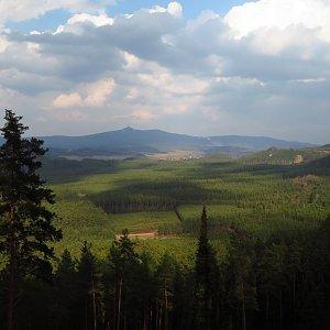 Iveta Válová na vrcholu Široký kámen (26.3.2021)