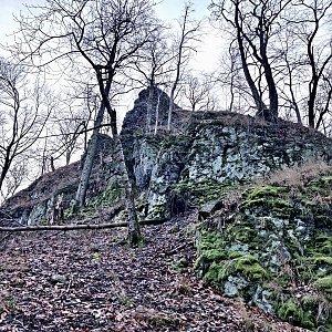 Pavel Martínek na vrcholu Velký jelení vrch (21.1.2020 12:50)