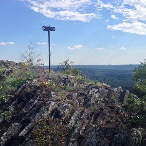Martin Matějka na vrcholu Velký jelení vrch (8.8.2016 16:18)