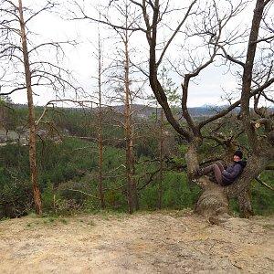 Iveta Válová na vrcholu Stohánek (2.4.2021)