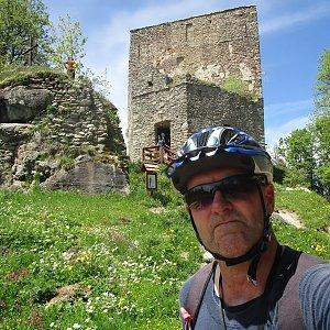 Michal Kříž na vrcholu Vítkův kámen (4.6.2021 12:27)