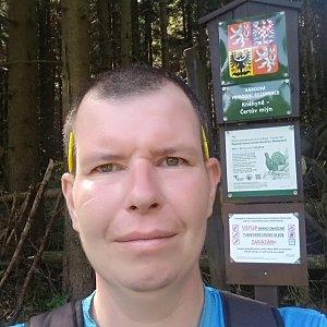 Michal Krčmář na vrcholu Kněhyně (28.7.2019 9:46)