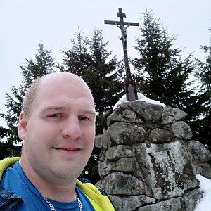 Petr Petrik na vrcholu Kněhyně (16.1.2020 16:19)