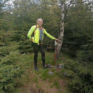 Jaroslav Hrabuška na vrcholu Vysoká hora (2.6.2021 11:55)