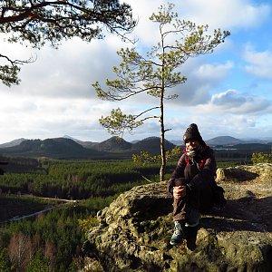 Iveta Válová na vrcholu Kavčí kopec (5.1.2020)