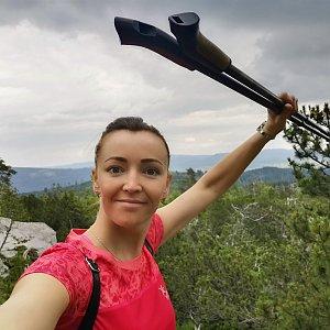 Michelle Sýkorová na vrcholu Koňský vrch (4.7.2021 14:25)