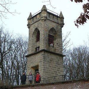 Jarda Vála na vrcholu Čeřovka (26.3.2011 18:52)