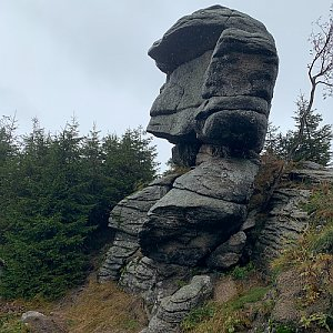 Karolina P na vrcholu Černý vrch (10.10.2020 14:35)