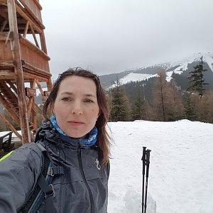Marcela Kubíčková na vrcholu Ostredok (3.3.2020 13:35)