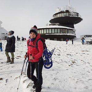 Hannach na vrcholu Sněžka / Śnieżka (15.2.2020 11:41)