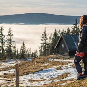 Léňa Manová na vrcholu Sněžka / Śnieżka (21.12.2020 17:00)
