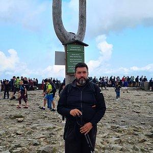Jiří Gryz na vrcholu Sněžka / Śnieżka (21.8.2021 12:19)