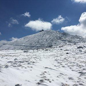 Jenda na vrcholu Sněžka (30.4.2017 11:22)