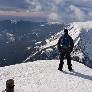 Petr T. na vrcholu Sněžka