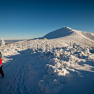 Iveta Steinerová na vrcholu Sněžka (29.12.2019 14:00)