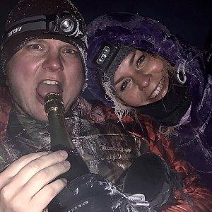 Stanislav Jahoda na vrcholu Sněžka (31.12.2019 23:56)