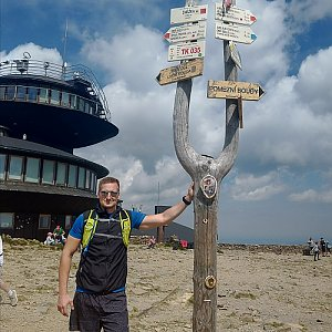Jiří Tomaštík na vrcholu Sněžka (24.7.2020 11:13)