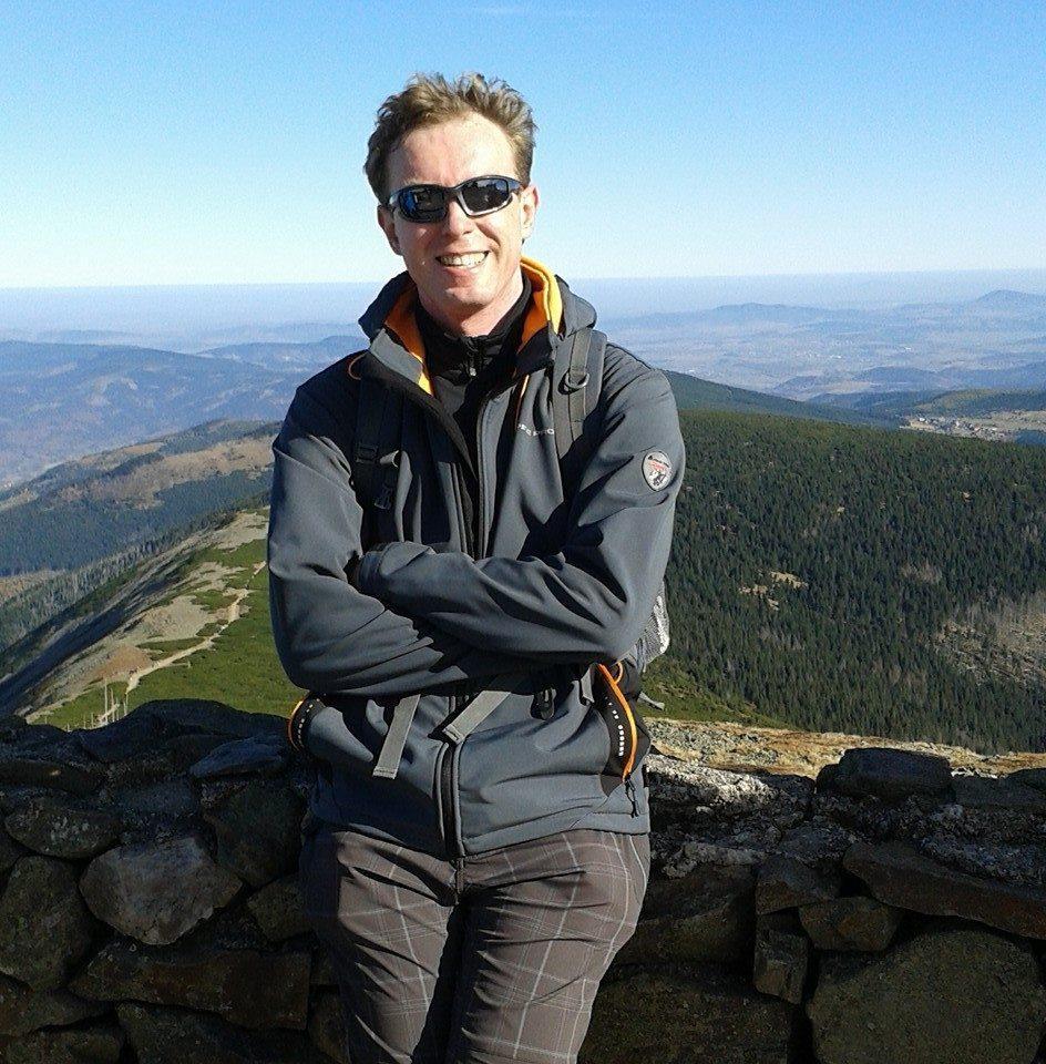 Petr Papcun na vrcholu Sněžka (24.10.2015 13:36)