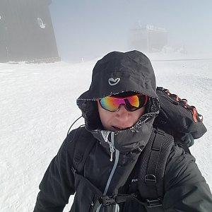 michal čech na vrcholu Sněžka (26.2.2018 11:16)